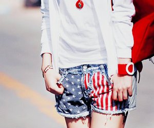 fashion, shorts, and red image
