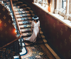 stairs, dress, and photography image