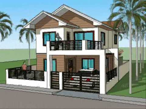 Simple House Designs With A Very Good Exterior Idea: The Beauty Simple  House Designs With A Black Gate And An Expensive Car With White Wall ~ Neohl