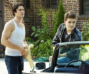 the vampire diaries, damon salvatore, and ian somerhalder image