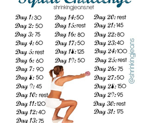 exercise and squat challenge image