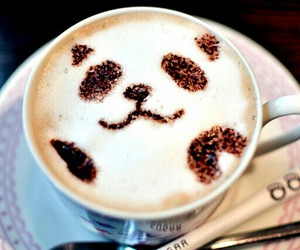 panda and coffee image
