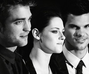kristen stewart, robert pattinson, and Taylor Lautner image