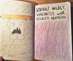 scribble, spongebob, and wreck this journal image