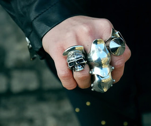 gothic, ring, and full finger ring image