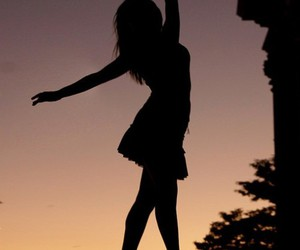 dance, ballet, and sunset image