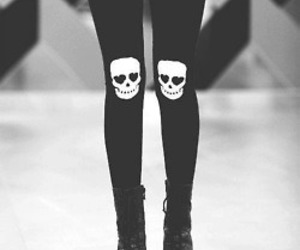 skull, black, and shoes image