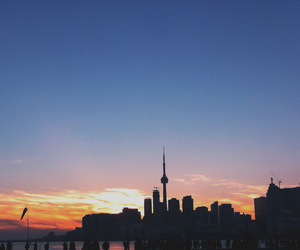 sunset and toronto image
