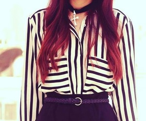 redhair and stripes image