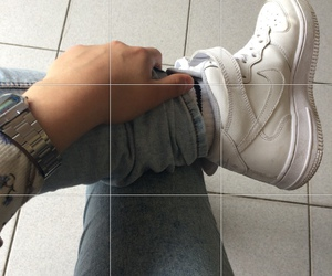 clothing, grid, and nikes image
