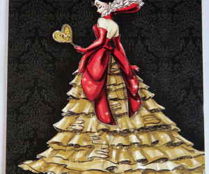 disney, queen of hearts, and villain image