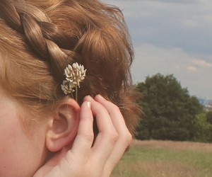 flowers, aesthetic, and hair image