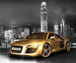 cars, gold, and luxury image