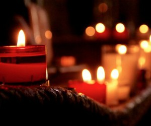 candle, light, and fall image