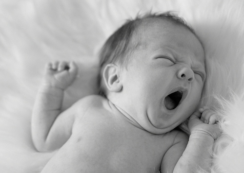 Baby black and white cute newborn sleep sweet inspiring picture on favim com