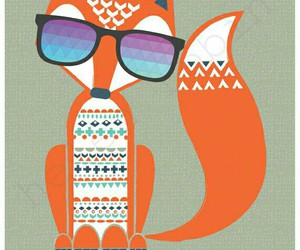 fox, shades, and hipter image
