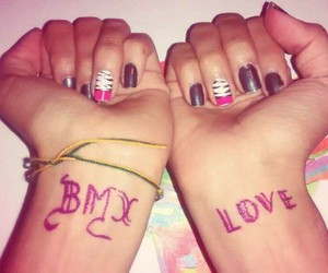 bmx, draw, and nails image