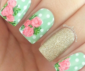 flower, flowers, and nail art image