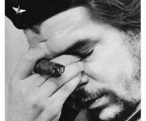 photography, bw, and cheguevara image