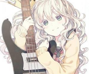 anime, guitar, and anime girl image
