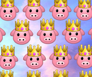 wallpaper, emoji, and pig image