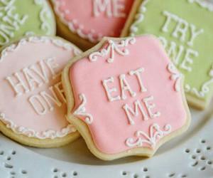 Cookies, alice in wonderland, and eat me image