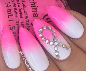 nails, white, and girl image