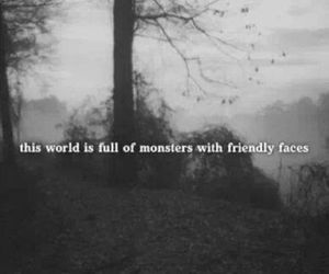monster, quotes, and world image