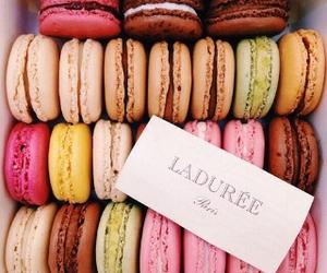 food, laduree, and macarons image