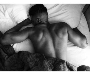 back, bed, and love image