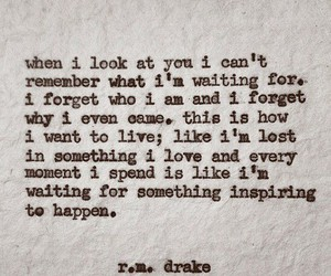 quote, love, and r.m.drake image