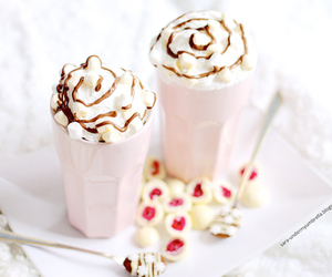 food, chocolate, and pink image