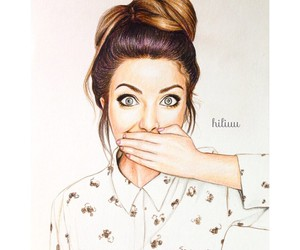 zoella, drawing, and art image