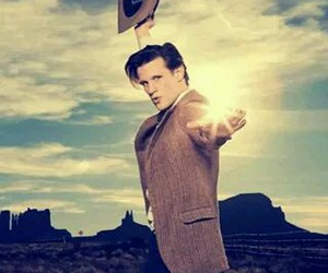blue box, doctor who, and eleven image
