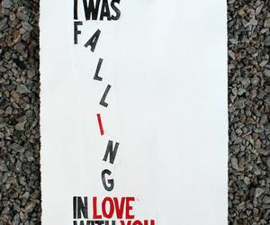 love, falling, and quote image