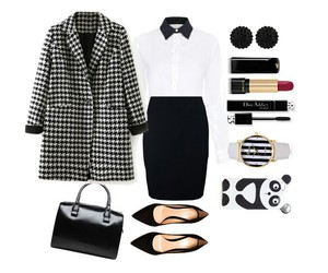 accessories, bag, and black & white image
