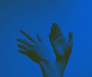 blue, hands, and art image
