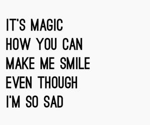 magic, sad, and smile image