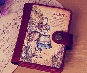 alice in wonderland, diary, and disney image