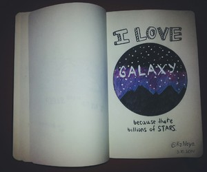galaxy, sky, and star image