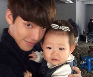 baby, lovely, and korean actor image
