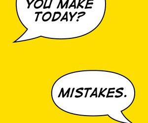 mistakes, quotes, and yellow image