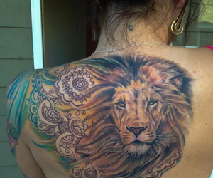 lion, tattoo, and ink image