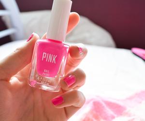 pink, nails, and nail polish image