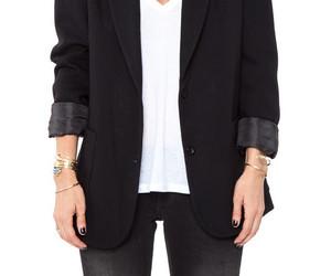black, jacket, and minimalistic image