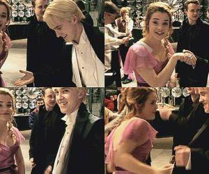 harry potter, emma watson, and draco malfoy image