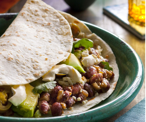 avocado, beans, and food image