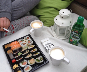 sushi, food, and coffee image