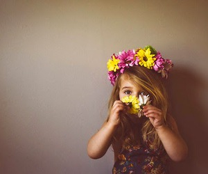 flowers, girl, and cute image