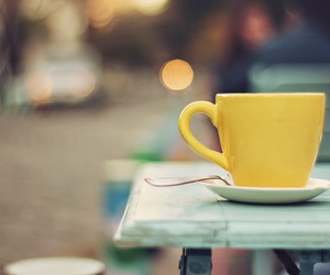 coffee, yellow, and cute image